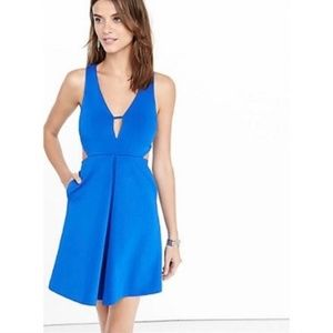 Express Sleeveless Plunging Cut Out Skater Dress